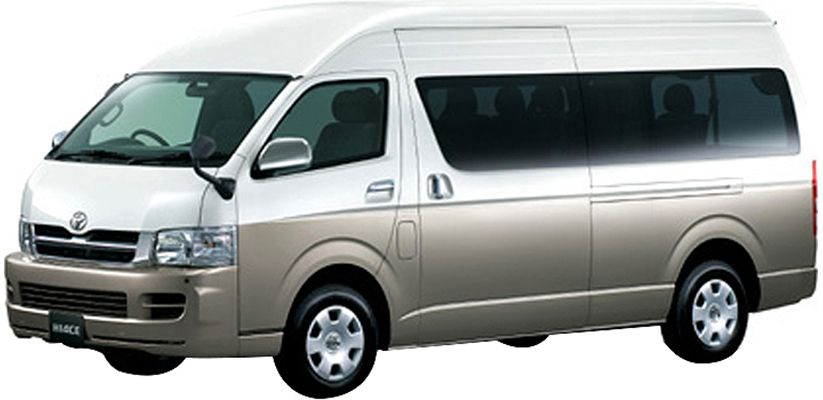 5th Gen Toyota HiAce (facelift) Front Image